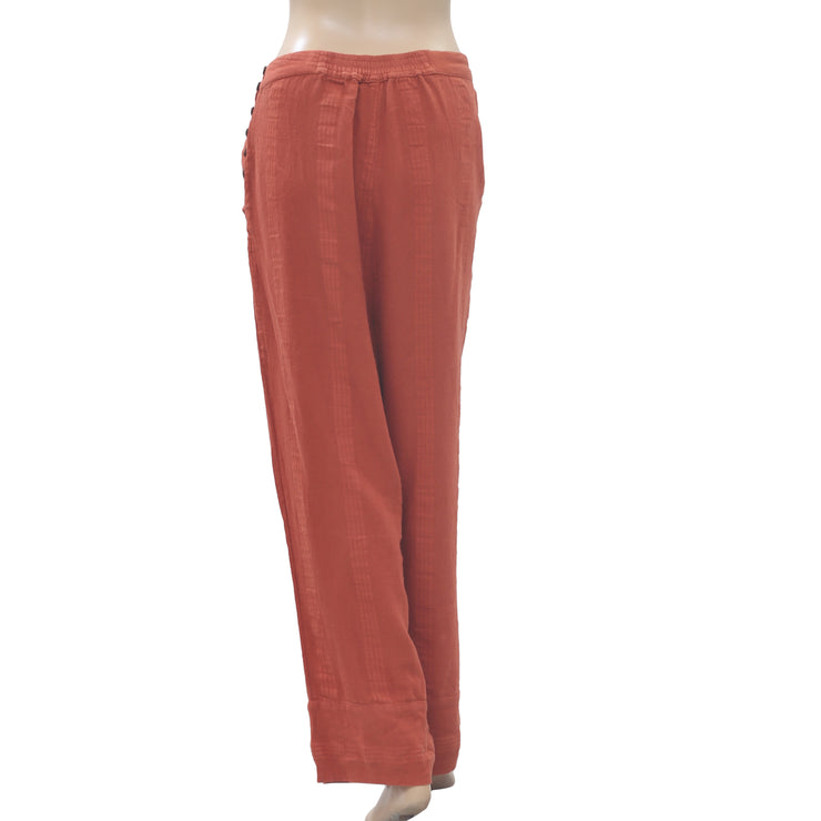 Free People This Is Love Trouser Pants Wide Leg High Waist Bohemian S
