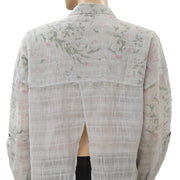 Free People Printed Button Down Pocket Top XS