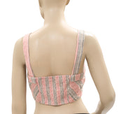 Free People Striped Printed Smocked Bra Top M
