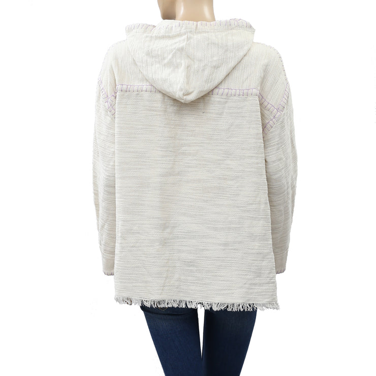 Urban Outfitters Tyler LaceUp Pullover Hoodie Top S