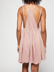 Free People Lovers Cove Mini Embroidered Lace Dress L