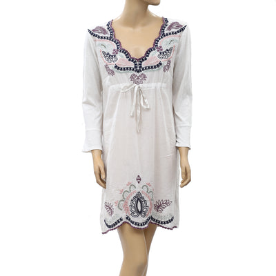 Odd Molly Anthropologie Floral Embroidered Tunic Dress L 3