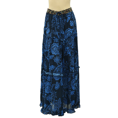 Free People Floral Printed Maxi Skirt S