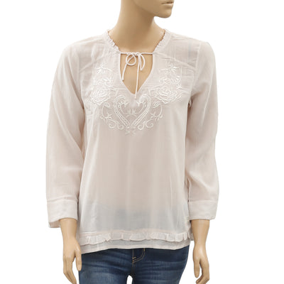 Odd Molly Anthropologie Embroidered Blouse Top M-2