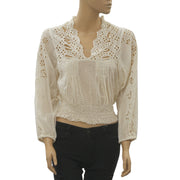 Free People FP One Clare Dolman Blouse Top
