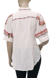 Vanessa Virginia Floral Embroidered Top XS