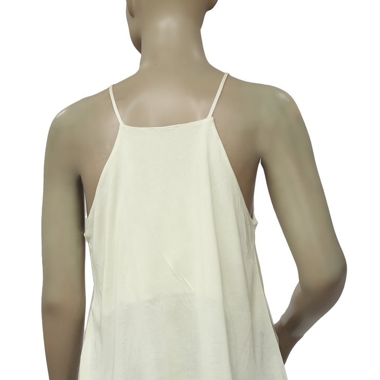 River Island Sleeveless Ivory Blouse Top M UK 12