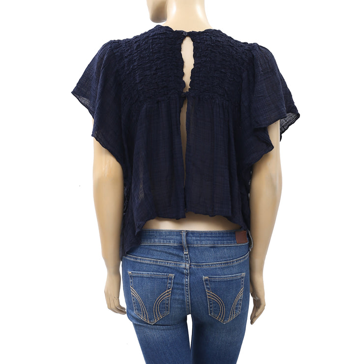 Free People FP One Hyacinyth Blouse Top M