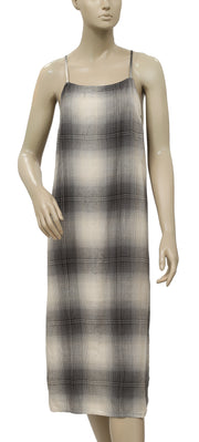 Silence + Noise Urban Outfitters Plaid Midi Slip Dress M