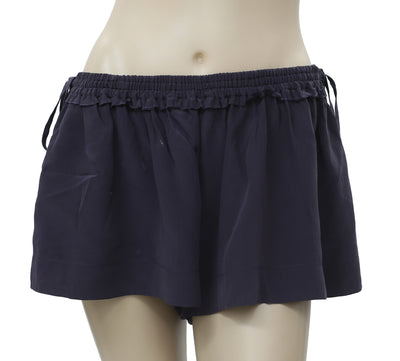 Iro Navy Silk Shorts Small S