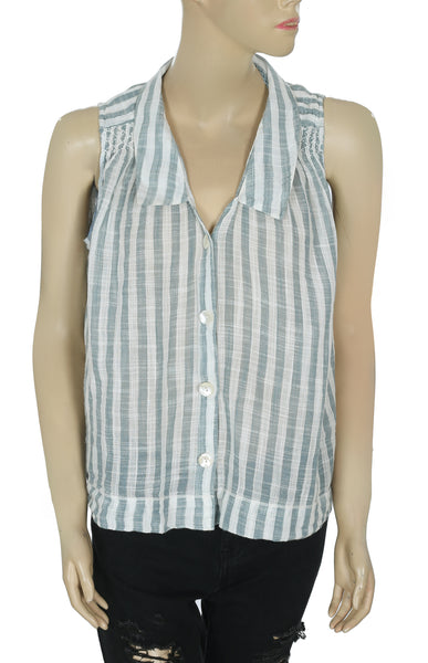 Holding Horses Anthropologie Striped Top Large L