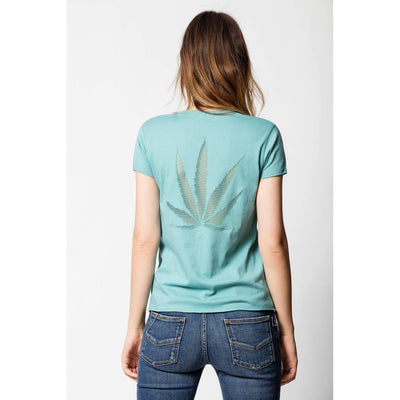 Zadig & Voltaire Story Fishnet Blue T-Shirt Top S
