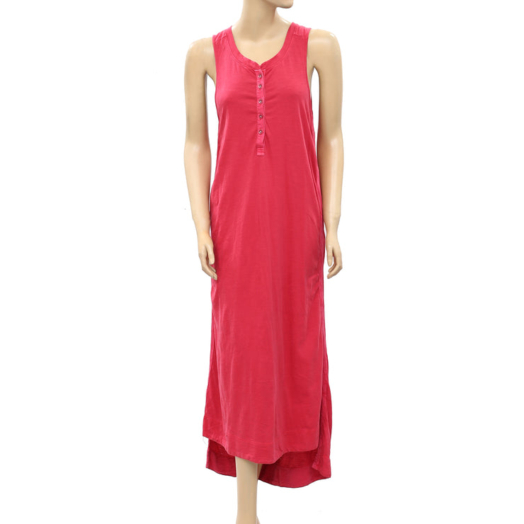 Free People Solid Pink Midi Dress S
