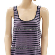 Ecote Urban Outfitters Striped Printed Tank Tunic Top S