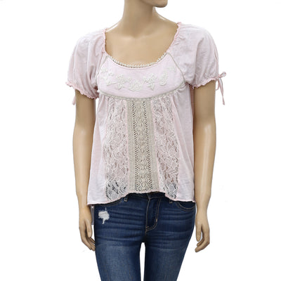 Odd Molly Anthropologie Floral Embroidered Blouse Top XS
