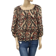 Denim & Supply Ralph Lauren Printed Blouse Top S