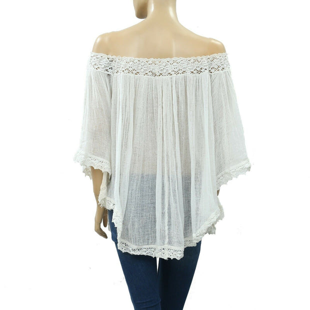 Denim & Supply Ralph Lauren Crochet Blouse Top