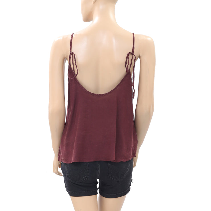 Intimately Free People Shiela's Valerie Lace Cami Blouse Top S