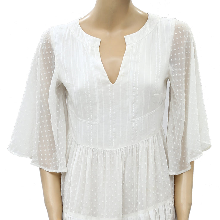 Free People Dot Embroidered Mini Dress S