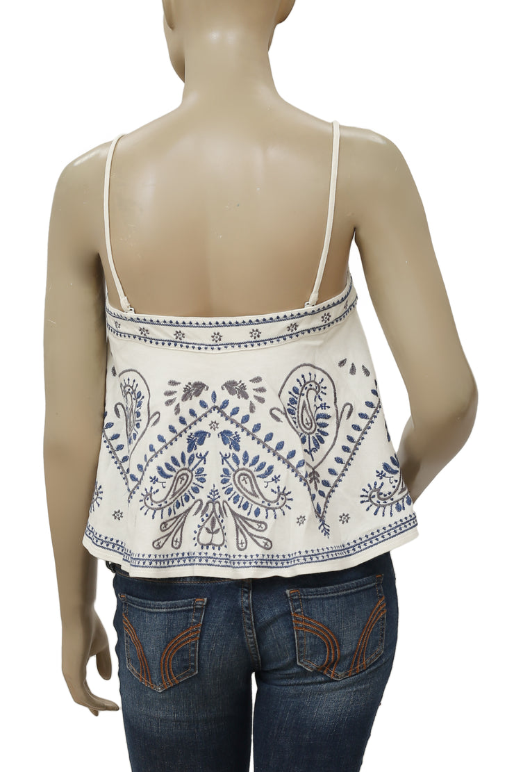 Free People Flirt Alert Tube Embroidered Top S