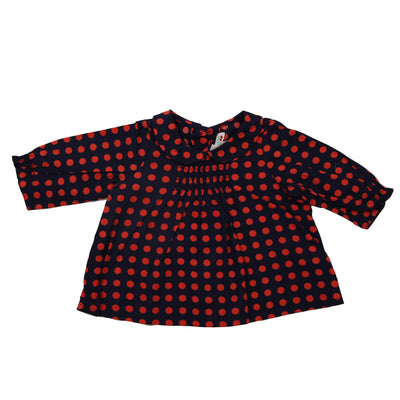 Bonpoint Baby Girls Polka Dot Printed Top 3 Months