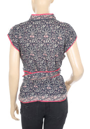 Free People FP One Cheongsam Printed Top S NWT