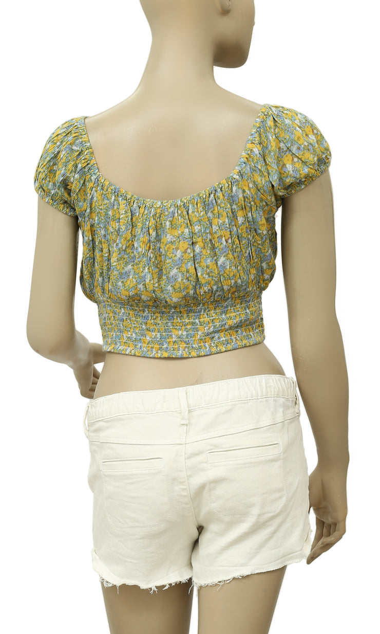 Free People Gypsy Road Floral Smocked Top S