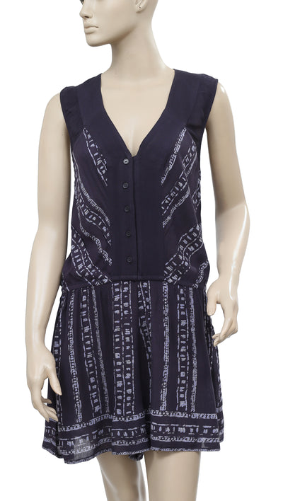 Ecote Magdalena Playsuit Printed Romper Dress M
