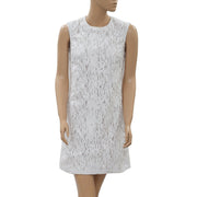 Yoana Baraschi Anthropologie Embroidered White Dress XS