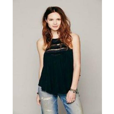Free People Shell Bell Embellished Tunic Top XS