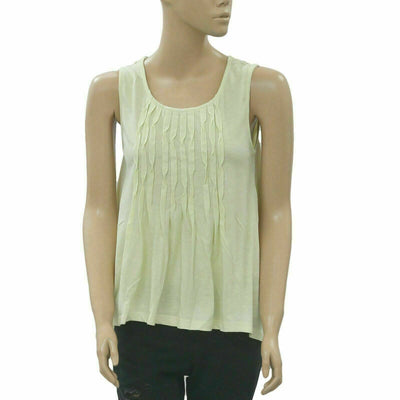 Deletta Anthropologie Pleated Tunic Top Holiday High & Low S
