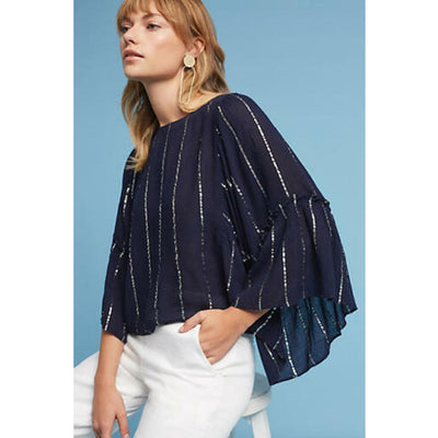 Floreat Anthropologie Emelyn Blouse Top