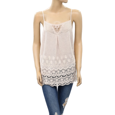 Odd Molly Anthropologie Crochet Lace Cami Tank Tunic Top M 2