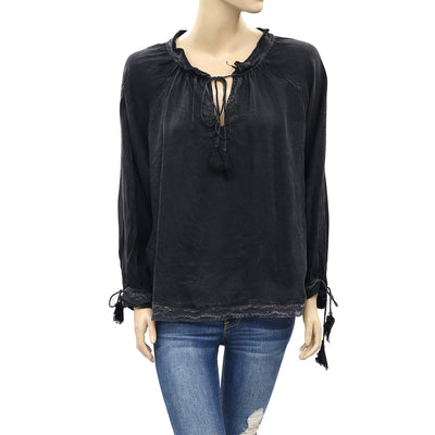 Zadig & Voltaire Theresa Black Blouse Top S