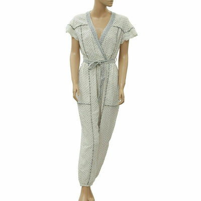 Ulla Johnson Dot Printed Jumpsuit Dress S