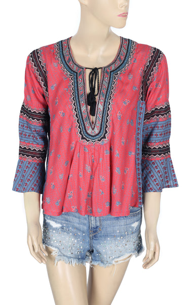 Free People Embroidered Dolman Top XS