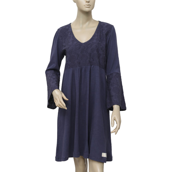 Odd Molly Embroidered V Neck Dress L 3