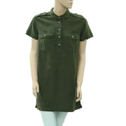 BDG Urban Outfitters Solid Green Tunic Shirt Top Boho Edge Vintage XL