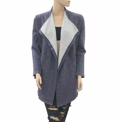 Caite Kiara Anthropologie Front Open Gray Winter Cardigan Top Jacket S