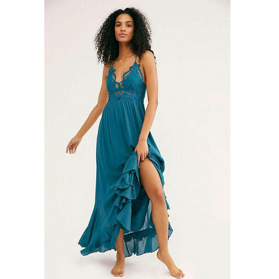 "Free People FP One ""Adella"" Slip Crochet Maxi Dress"