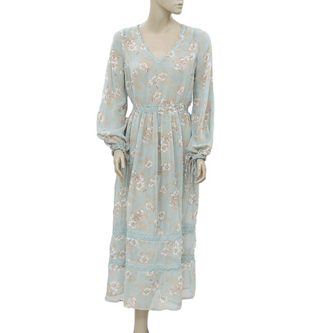 Denim & Supply Ralph Lauren Printed Lace Midi Dress M