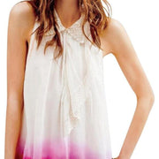 Free People Dip-Dyed Ruffle Collar Tank Top S