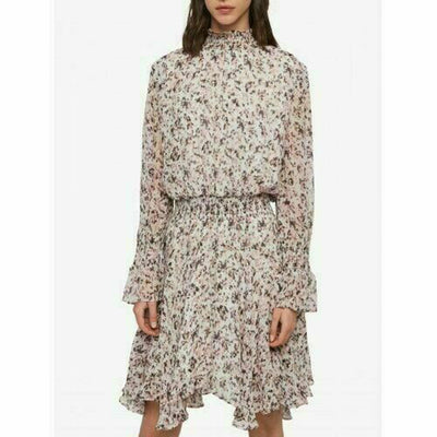 All Saints Ria Freefall Multi Print Mini Dress M