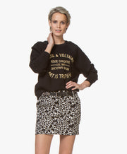 Zadig & Voltaire Upper Blason Logo Sweatshirt Embroidered Black XS