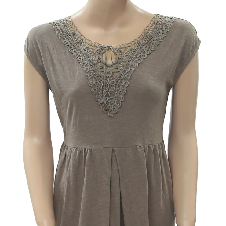 Odd Molly Anthropologie Crochet Lace Tunic Dress XS