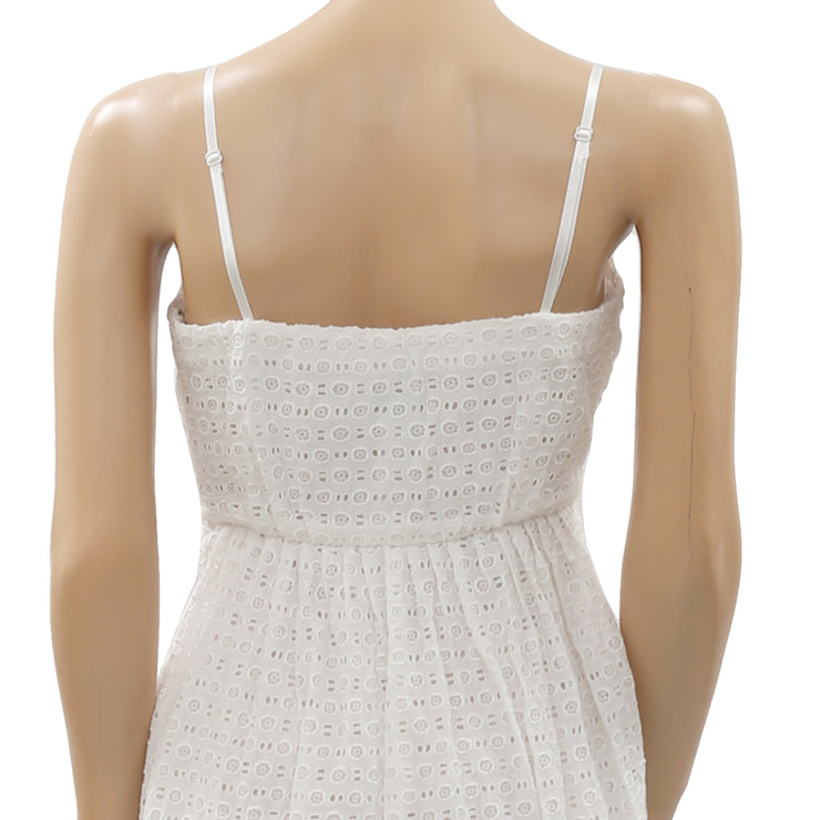 Hd In Paris Anthropologie Blanched Eyelet Tube Dress S 4