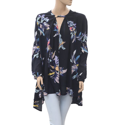 Free People Floral Printed Tunic Top