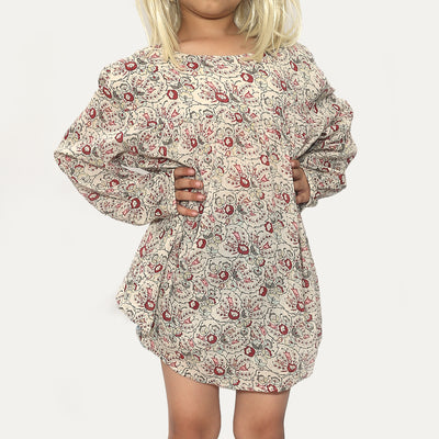 Bonpoint Kids Girls Floral Printed Mini Dress S
