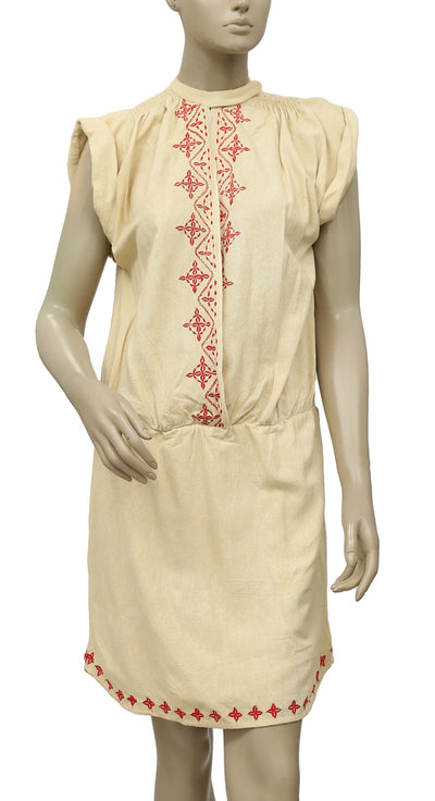 Ulla Johnson Embroidered Silk Dress S 6