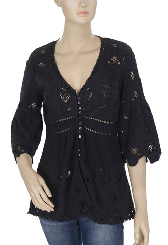 Odd Molly Embroidered Tunic Top Small S 1